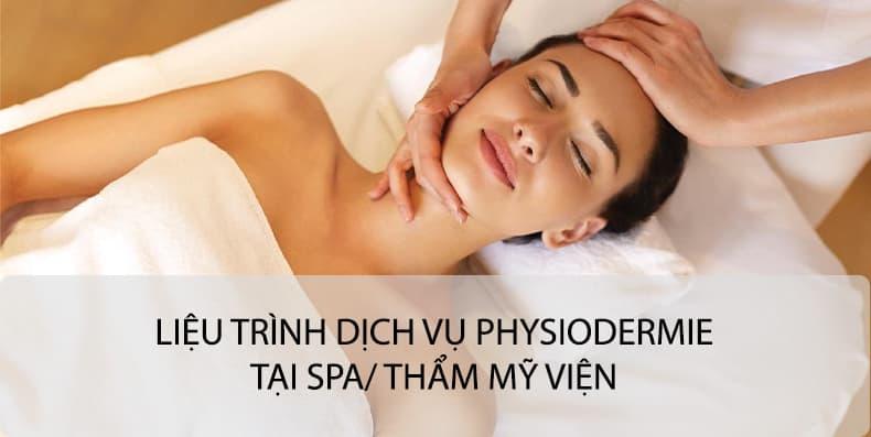 Liệu trình điều trị và chăm sóc da sử dụng Physiodermie tại Spa/ TMV