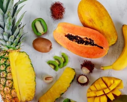 Enzyme có nhiều trong các loại trái cây đặc biệt là dứa, đu đủ