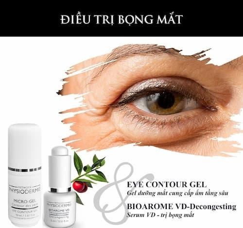 Bộ đôi đặc trị bọng mắt của Dược mỹ phẩm Physiodermie từ Thụy Sĩ