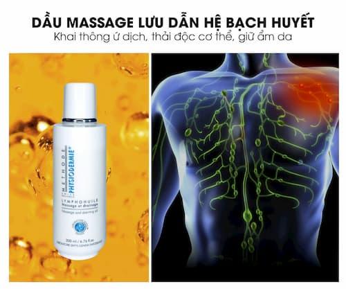 Dầu dưỡng massage lưu dẫn hệ bạch huyết