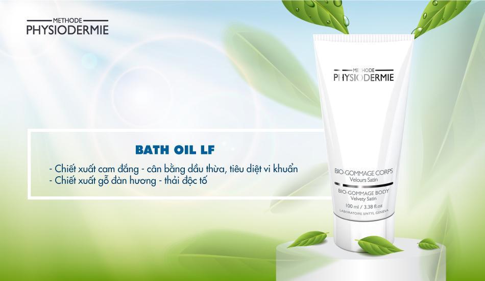 Tinh dầu tắm Bath Oil LF giúp điều trị viêm chân lông cơ thể và vùng kín