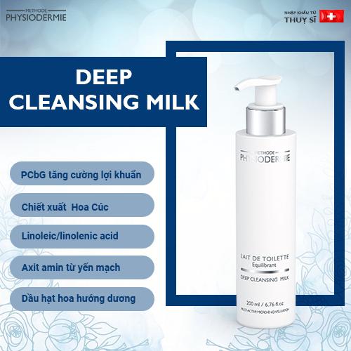 Sữa rửa mặt tẩy trang Deep cleansing milk