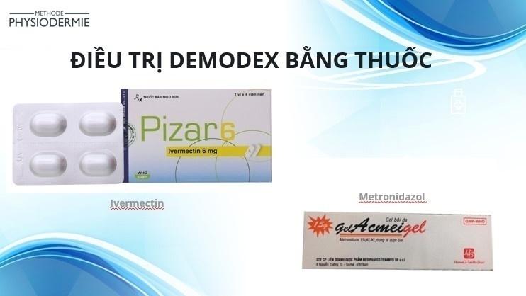 Điều trị demodex bằng thuốc