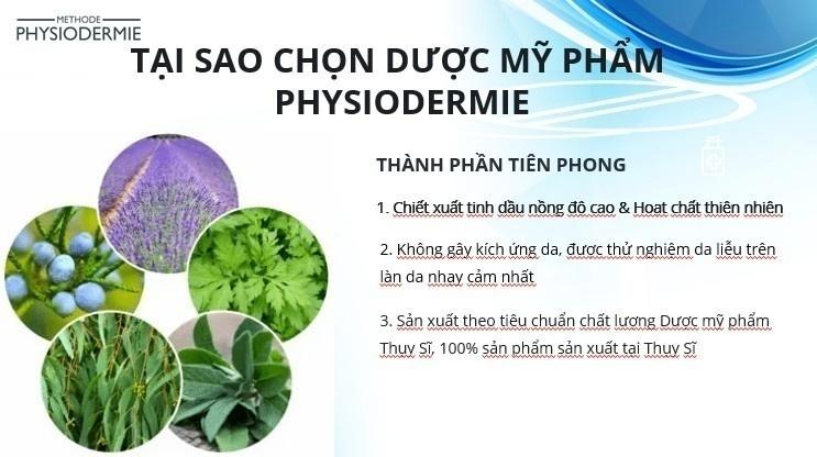 Điều trị bằng dược mỹ phẩm Physiodermie